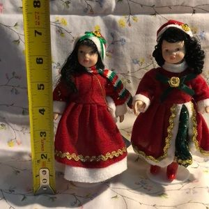 Accents - Two Small Porcelain Dolls